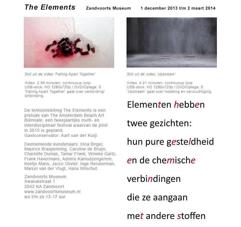 Expositie The Elements in Zandvoorts Museum