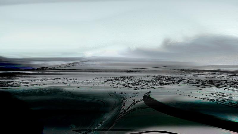 Inge Reisberman, foto schilderij Noordwaarts